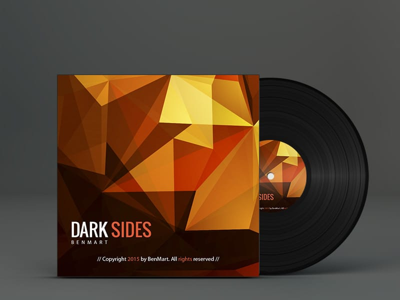 Dark Sides Vinyl Cover. Electrónica, Techno, House