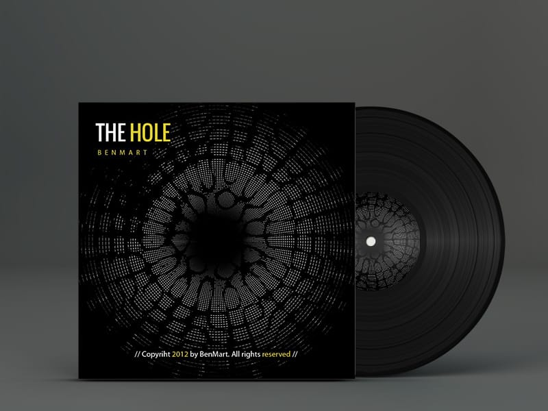 The Hole Vinyl Cover. Electrónica, Techno, House